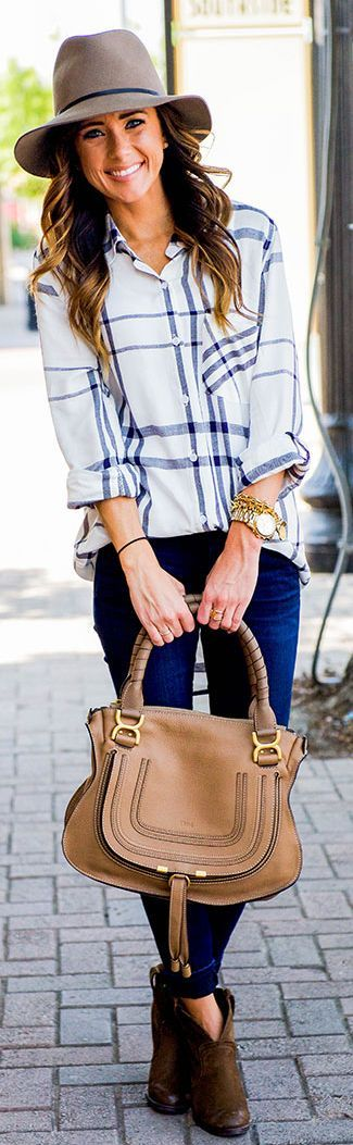 Oversized Plaid Shirt Fall Inspo by Sequins & Things