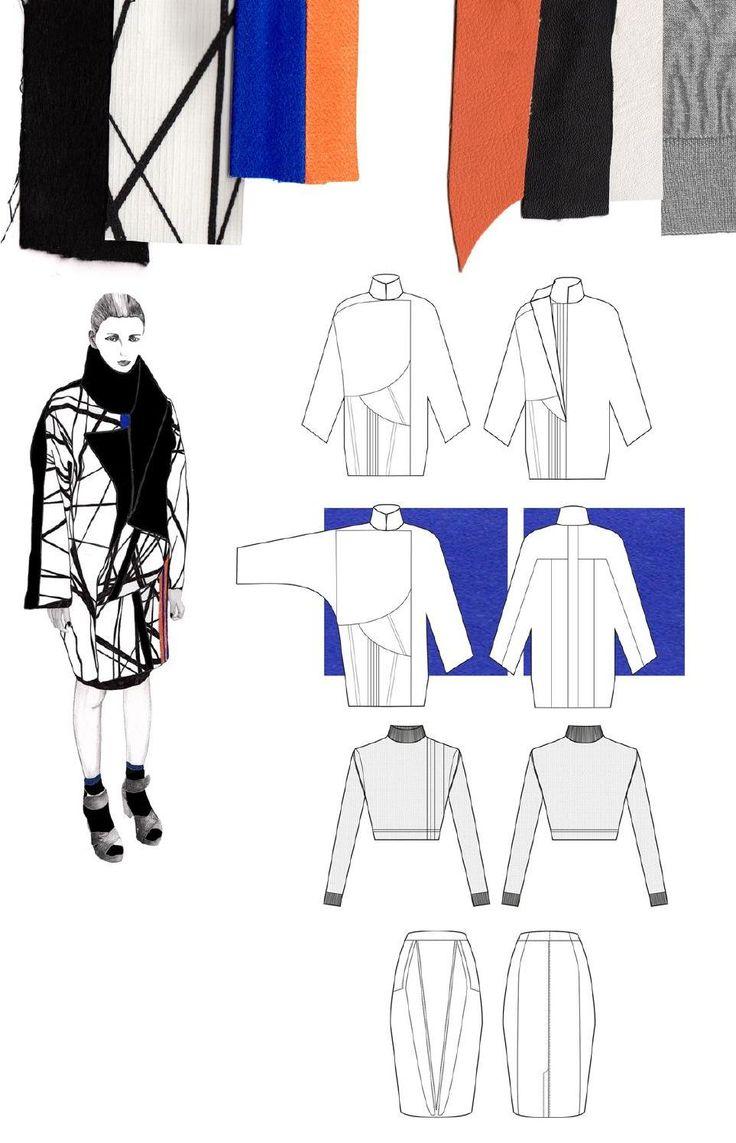 Fashion Sketchbook - fashion design with geometric prints; fashion illustration; fashion portfolio // Gina Atkinson
