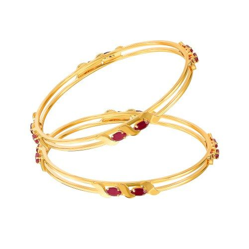 Mahi Gold Plated Winning Vogue Bangles with CZ Stones And Ruby - Online Shopping for Bracelets n Bangles by Mahi Fashion Jewelry