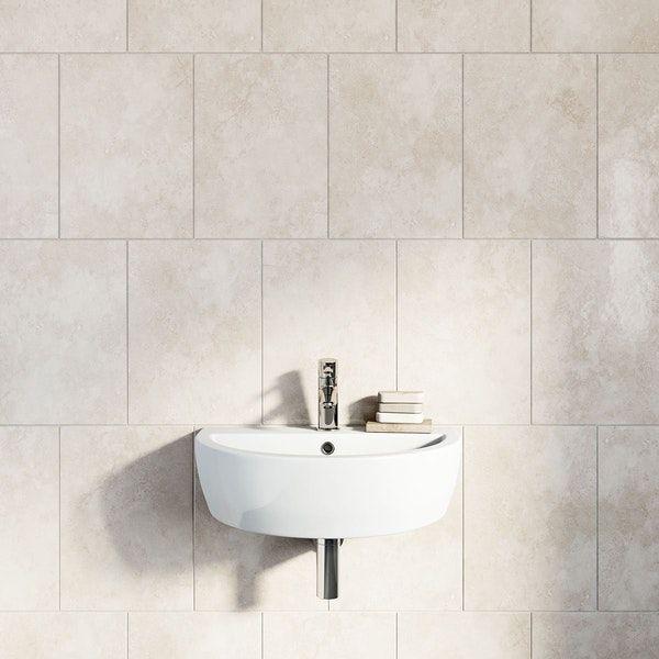 British Ceramic Tile Earth Stone Beige Gloss 300mm X 416mm