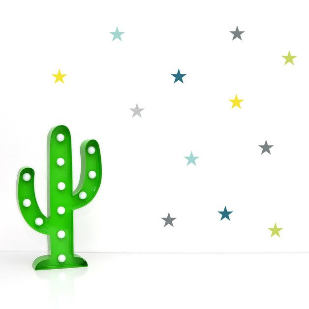 Cool Bunte Sterne Wandsticker Boys Jungen Kinderzimmer