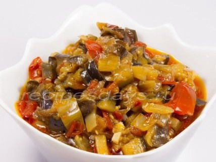 баклажаны острые - рецепт на зиму