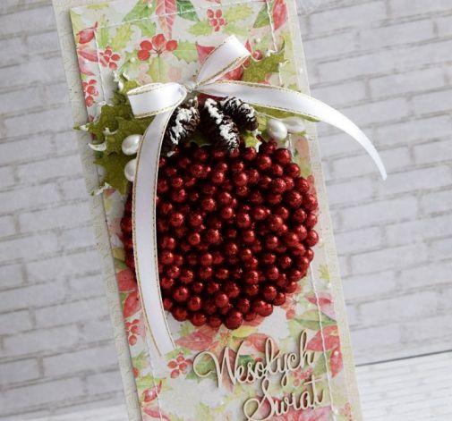 Świąteczny komplet z czerwoną bombką