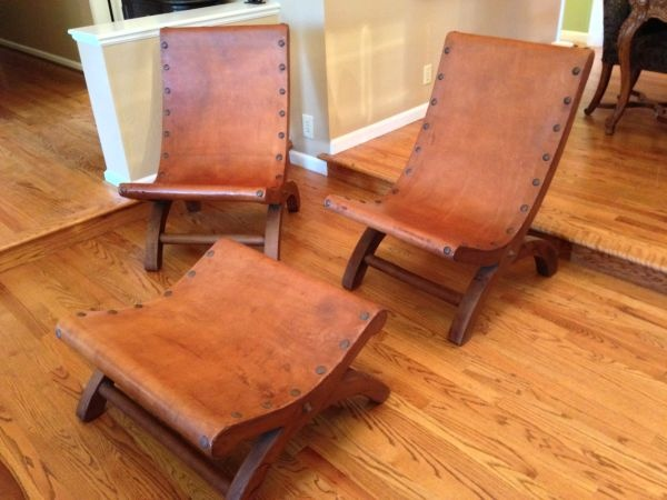 San Jose: Spratling Style Wood Leather Chairs Ottoman from Mexico $800 -  http:/ - 103 Best San Jose Listings Images On Pinterest San Jose, Vintage