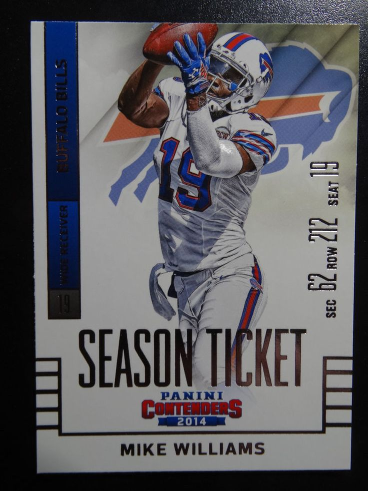 2014 Panini Contenders Season Ticket #13 Mike Williams Buffalo Bills Card  #BuffaloBills