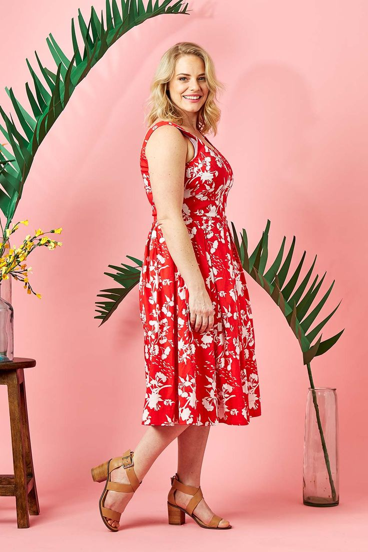 THAT BIRD LABEL - Lori Fit And Flare Dress Sizzling Summer