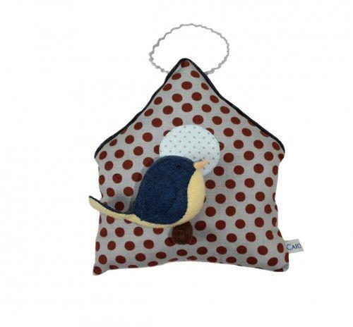 cabane oiseau, cabane en tissu, décoartion en tissu, osieau feutrine, handmade, kid, rommdecoration, kidroom, nature decoration