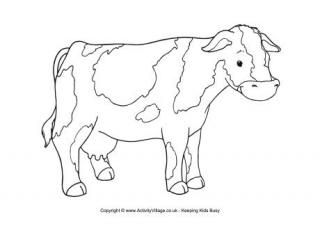 Cow colouring page 3