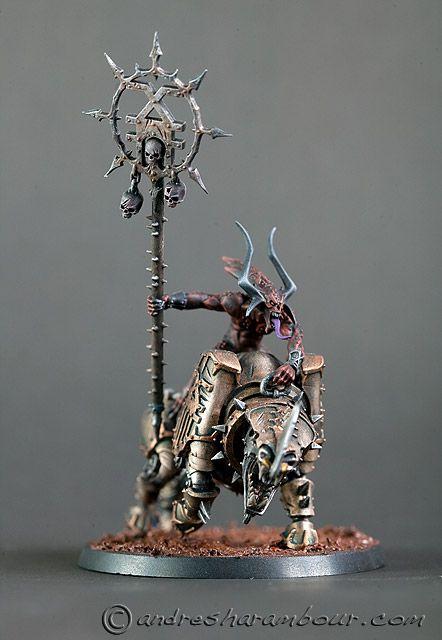 Demon figure model.