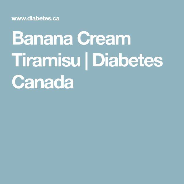 Banana Cream Tiramisu | Diabetes Canada