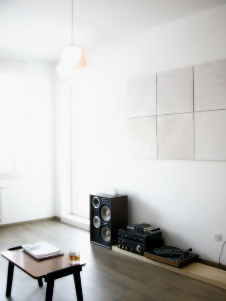 A good sound system is sometimes enough to make a home, homey. :)