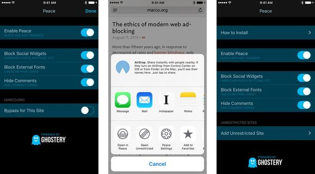 Marco Arment Pulls 'Peace' iOS Ad Blocker Because It 'Just Doesn't Feel Good' - http://iClarified.com/51513 - Marco Arment, the developer behind Instapaper and former CTO of Tumblr, has announced he is pulling Peace, an iOS 9 ad blocker application which