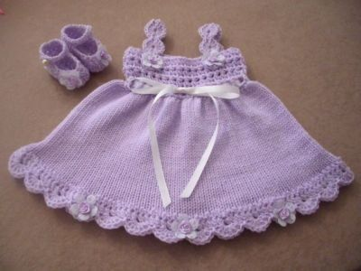 Free Crochet Baby Dress Patterns | Handmade Designer Baby Clothes - Handmade Designer Baby Clothes