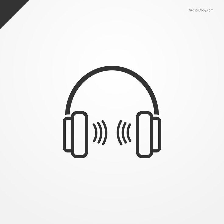 Headphones icon, free vector Free vector clipart