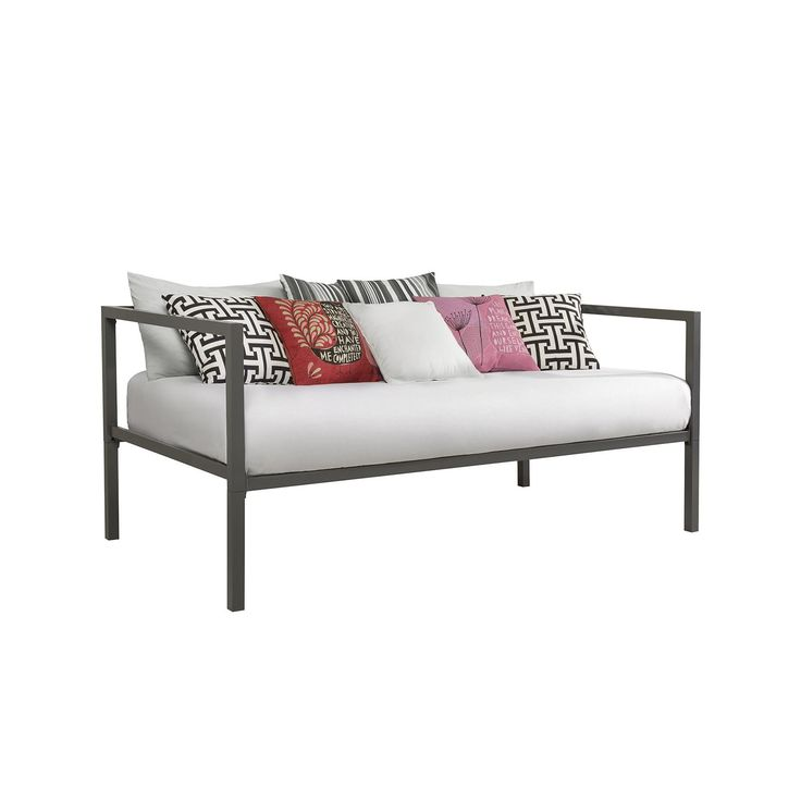 DHP Tribeca Daybed   The Sleek And Modern DHP Tribeca Daybed Creates A  Sophisticated And Elegant Look In Any Room. The Gunmetal Grey Color Frame  Harmonizes ...
