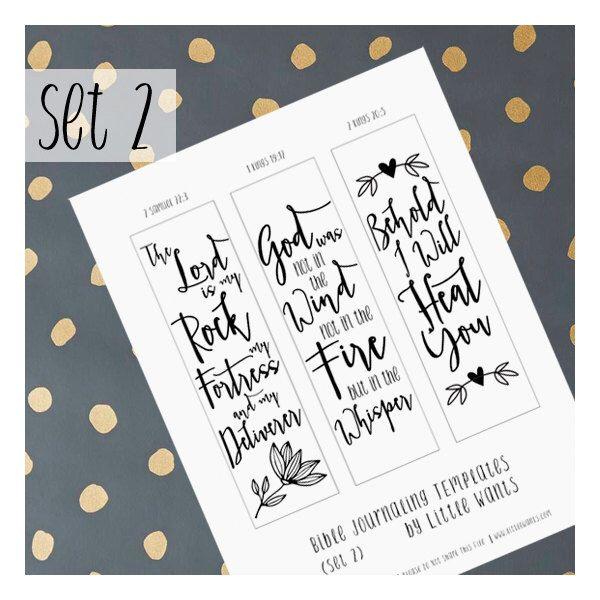 Bible Verse Illustrated Faith Printable, Bible Journaling Art, Bible Journaling Bookmarks, 2 Samuel 22 3, 1 Kings 19 12, 2 Kings 20 5  Set 2 by LittleWants on Etsy https://www.etsy.com/listing/271524190/bible-verse-illustrated-faith-printable