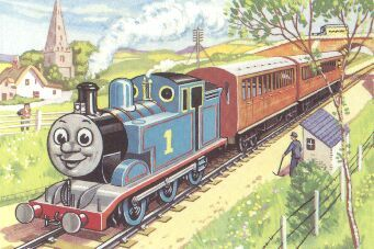 Drawing from one of the original Thomas the Tank Engine storybooks by The Rev. W. Awdry