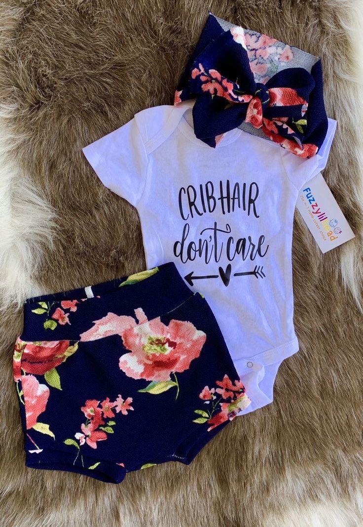 Baby Mädchen Floral Scale Bloomer Set, übergroße selbst gebundene Baby Headwrap, Bloomies für kleine Mädchen, Baby Bummies, Frühling Outfit, Windel Cover   – McKenzie Grace