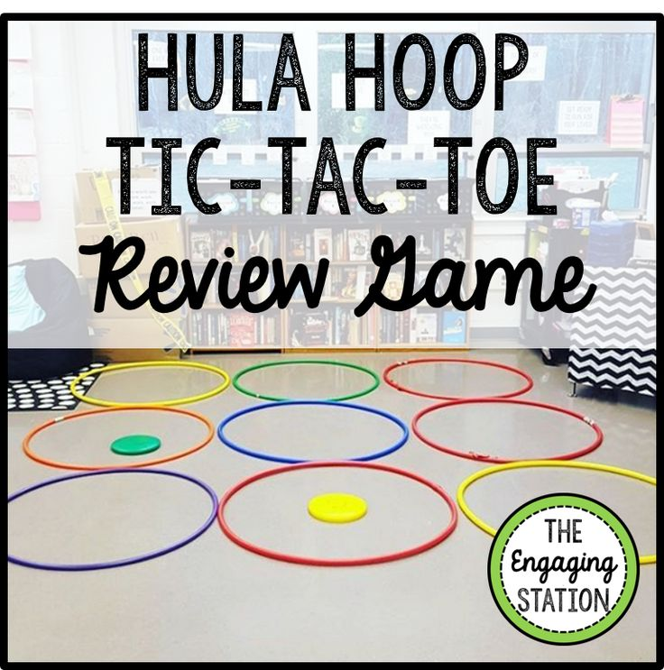 Hula Hoop Tic-Tac-Toe Review Game ~ The Engaging Station