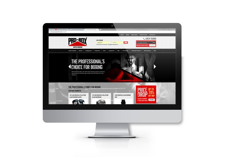 Full responsive eCommerce website design and building for Pro-Box