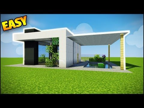 Minecraft: How to Build a Modern House - Easy Tutorial (How to Build a House in Minecraft) - YouTube