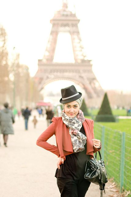 Love the fedora...oh, and the Eiffel Tower, too!