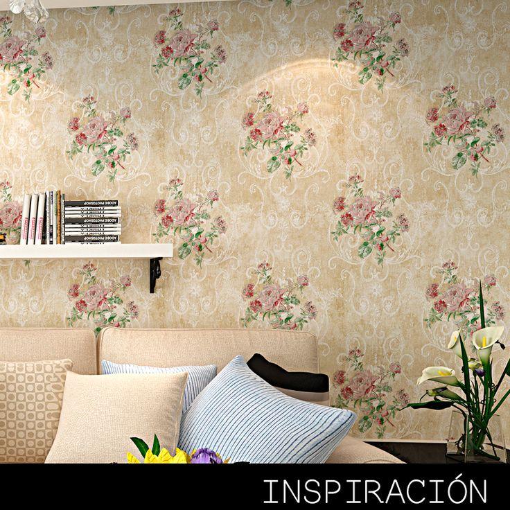 13 best decora con papel tapiz images on pinterest - Papel tapiz para pared ...