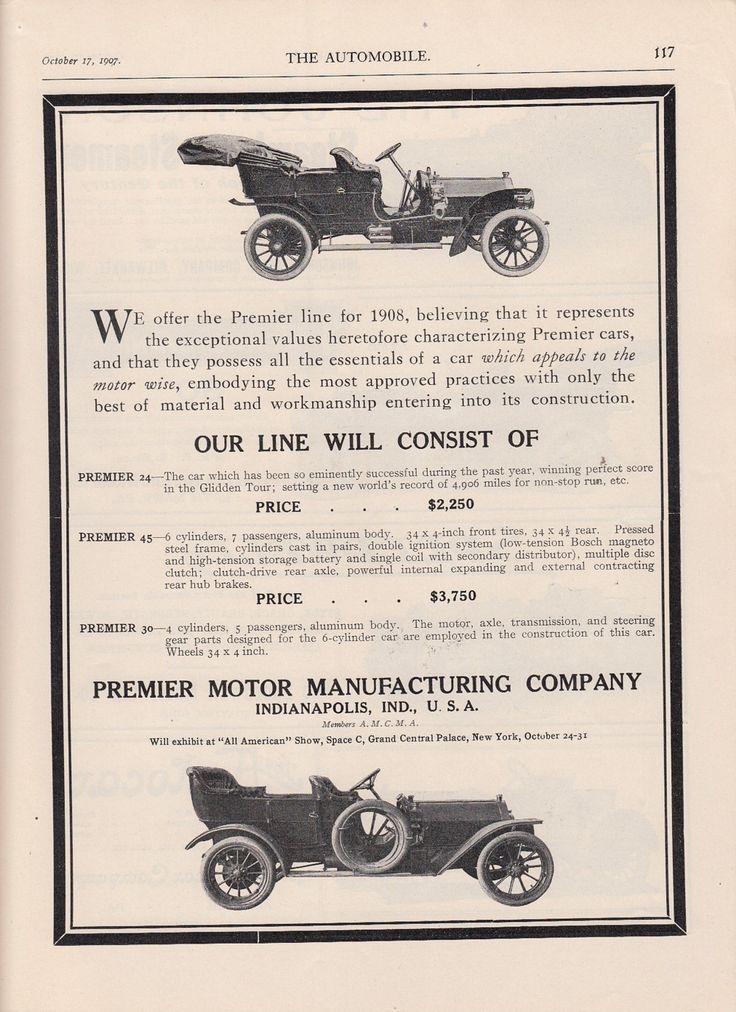 104 best vintage automobile car advertising images on for Premier motors elkhart in