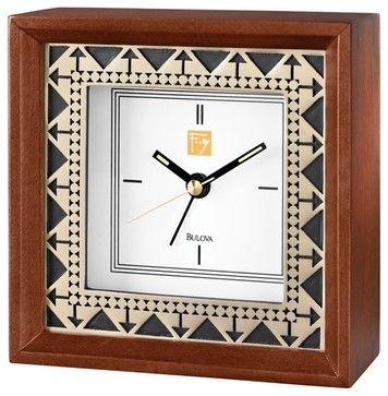 Frank Lloyd Wright Beth Shalom Alarm Clock - transitional - Clocks - Expressions of Time, LLC