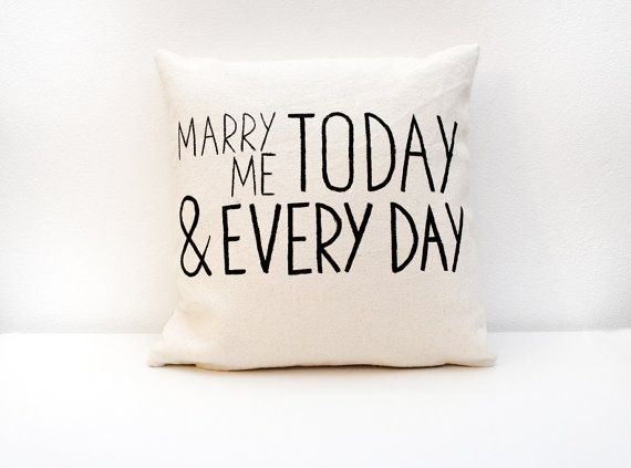 Anniversary gift Marry Me today and every day by ItsTimeToDream