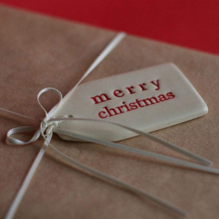 Paper Boat Press, Brisbane — Merry Christmas - ceramic gift tag