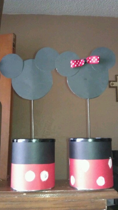 Mickey & Minnie centerpieces