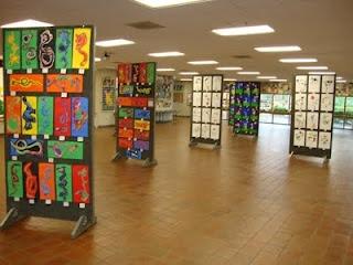 Art show displays...