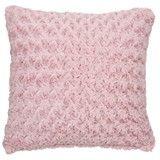 Swirly Fur Dusky Pink Cushion