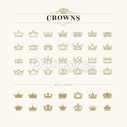 Iconography minimalist crowns