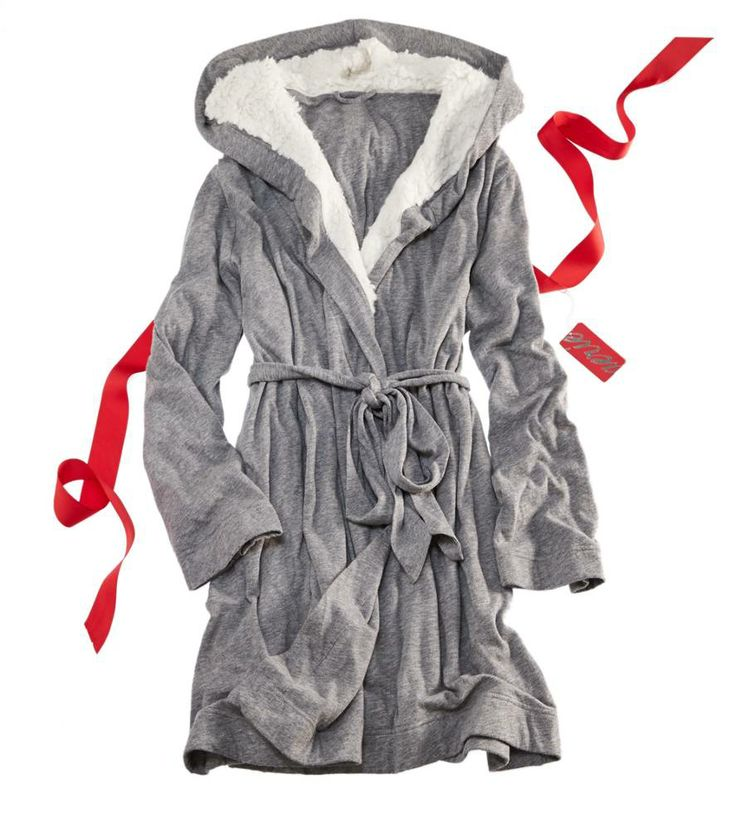 Warm and fuzzy robe.