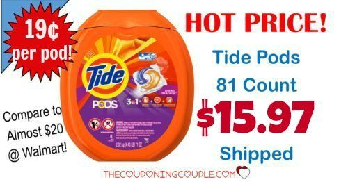 Use Tide? You will love this deal on Tide Pods! Only $15.97 shipped for the BIG container! Compare to $20 at Walmart and Target!  Click the link below to get all of the details ► http://www.thecouponingcouple.com/tide-pods-deal/ #Coupons #Couponing #CouponCommunity  Visit us at http://www.thecouponingcouple.com for more great posts!