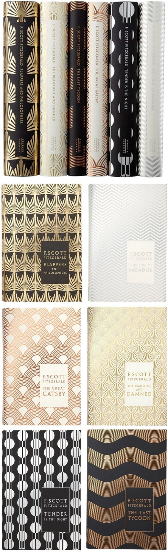 Flappers and Philosophers. This Side of Paradise. The Great Gatsby. The Beautiful and Damned. Tender is the Night. The Last Tycoon. F. Scott Fitzgerald.