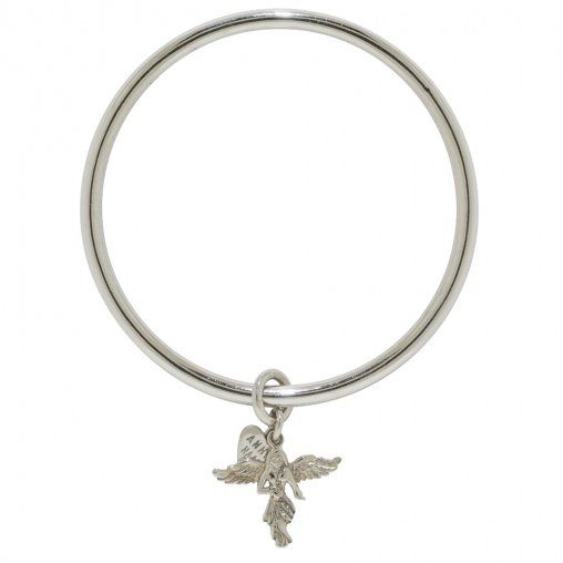 This 925 sterling silver My Guardian Angle Bangle is perfect asa statement piece or worn with other ANNIE HAAK bracelets