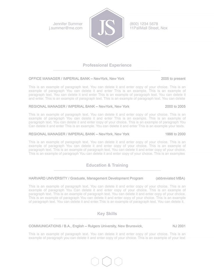 20 best Elegant Resume Templates images on Pinterest Resume - mac pages resume templates