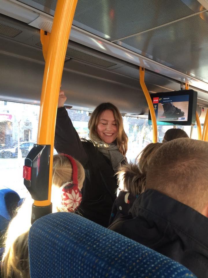 Alt for mange mennesker i bussen