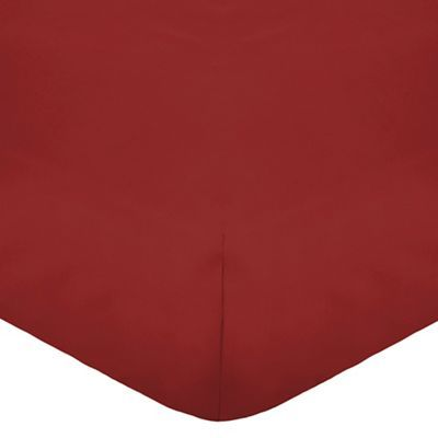 Home Collection Red cotton rich percale fitted sheet | Debenhams