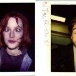 Continuity polaroids of Gillian Anderson andDavid Duchovny on the set of The X-Files.