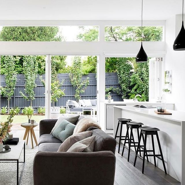 Spotted: The Max Stool in the contemporary home of @juliaandsasha as featured in @adoremagazine #CocoRepublic #interiors #home #livingroom #TheBlock