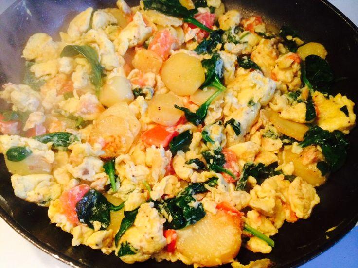This morning's breakfast/brunch. California style omelet!