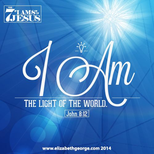 "Bible Scripture: ""I am the light of the world. He who ..."
