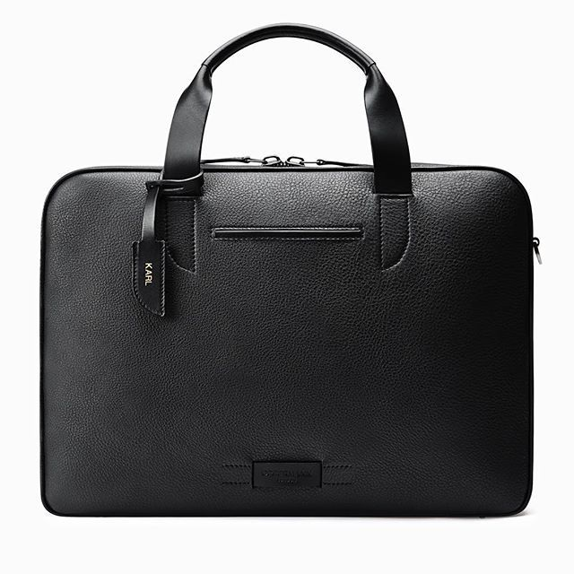 Luxury Briefcase with personalised luggage tag by @oppermannlondon