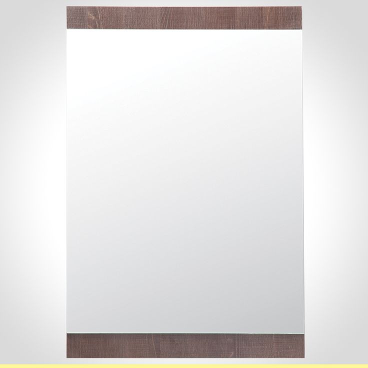 Rococo 550mm Mirror with wall shelf Brown