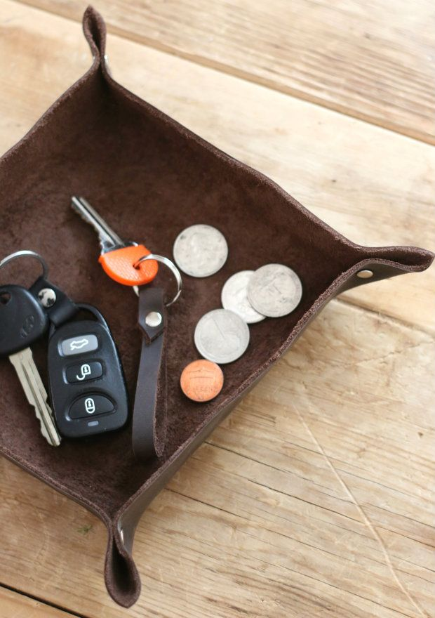 Make This Leather Catch-All Tray (and Keep Your Keys, Coins and Clutter Contained) | eHow