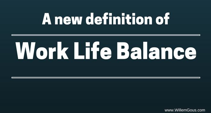 There is no such thing as work-life balance @willemgous https://goo.gl/HarluN